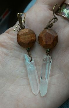 Want these wanderlust-raw crystal, waxed linen, faceted wood