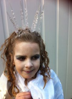 White/ snow witch fancy dress costume for world book day. Narnia