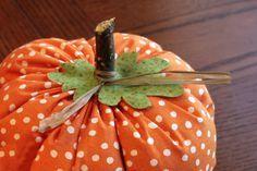 Fabric Pumpkins Tutorial