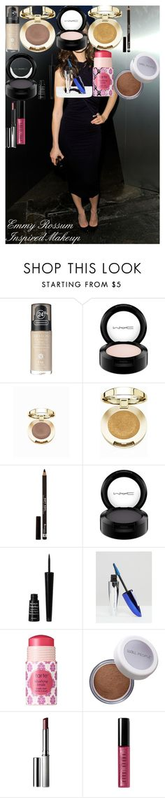 """Emmy Rossum Inspired Makeup"" by oroartye-1 on Polyvore featuring beauty, Revlon, MAC Cosmetics, Milani, Rimmel, L'Oréal Paris, tarte, W3LL People, Clinique and Bobbi Brown Cosmetics"