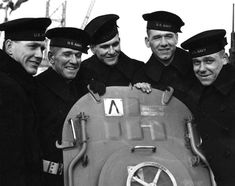Sullivan brothers on USS Juneau (Joseph, Francis, Albert, Madison and George Sullivan (from left to right)) pictured on the 14 February 1942. All served on the USS Juneau.  None survived their ship being torpedoed at the battle of Guadalcanal Nov. 12-13, 1942. - Siblings in the military are rarely ever stationed together anymore to prevent this from happening again to any family.