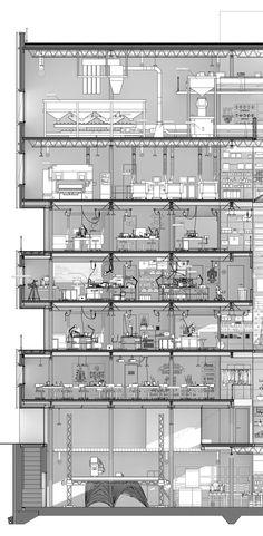 "fabriciomora: "" YMBA Microfactory, sectional narrative - Harry Wei """
