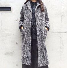 . [FWK by Engineered Garments] Knit Robe-Sweater Knit/Grey ¥79,000+tax Reversible Vest-Polka Dot Jacquard ¥55,000+tax Banded Collar Shirt-Polka Dot Flannel ¥35,000+tax Tuck Skirt-Cotton Reversed Sateen ¥29,000+tax #fwkbyengineeredgarments #fwk #engineeredgarments #nepenthes #nepenthesosakanepenthes_osaka