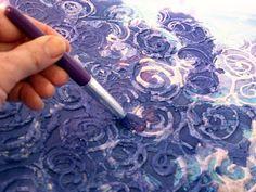 DIY batik fabric. so amazinggg!  to make a tapestry?