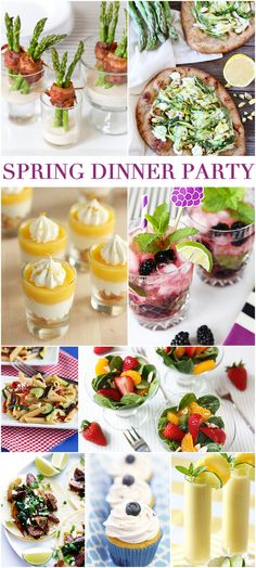Host a Spring Dinner Party in Style! 9 Refreshing Recipes Spring-Dinner-Party REALLY great recipes. A must do party! Dinner Party Recipes, Dinner Themes, Appetizers For Party, Themed Dinner Parties, Summer Dinner Party Menu, Spring Dinner Ideas, Dinner Party Decorations, Food Network, Cena Formal