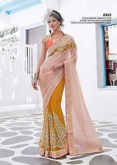 U Partywear Designer Saree 8902 Wedding Sari Bollywood Women Dress Traditional