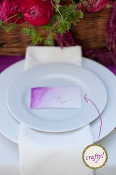 DIY wedding place cards. Sounds super simple, kinda fun, and prolly cheaper then most other kinds of place cards (and seriously, I'm pinning so many ideas form this website!)