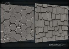 Tilable textures for Game's Environment All Sculpted from scratch on Zbrush Texture Board, 3d Texture, Stone Texture, Zbrush Environment, Environment Design, Zbrush Tutorial, Maya, Hand Painted Textures, Texture Mapping