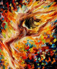 "The Dance of Love — PALETTE KNIFE Figure Nude Oil Painting On Canvas By Leonid Afremov - Size: 30"" x"
