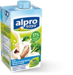 Alpro Soya matfløte 250ml. Denne bruker jeg istedenfor vanlig fløte og den fåes i de fleste dagligvarebutikker og på helsekost.