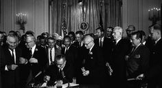 Little Known Black History Fact: Civil Rights Act of 1964- http://getmybuzzup.com/wp-content/uploads/2014/07/325978-thumb.jpg- http://getmybuzzup.com/little-known-black-history-fact-civil-rights-act-1964/- By D.L. Chandler The Civil Rights Act of 1964 was signed by President Lyndon B. Johnson on this day, the first in a trio of laws that passed which ushered in a new wave of racial equality. Despite the tragic circumstances leading up to the passing of the bill, the moment wa