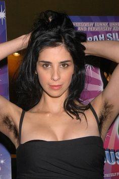 Sarah Silverman. Now that's some armpit hair!!