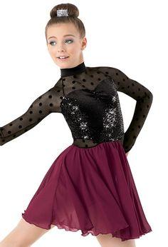 Weissman™ | Sequin Plush Dot Mesh Georgette Dress