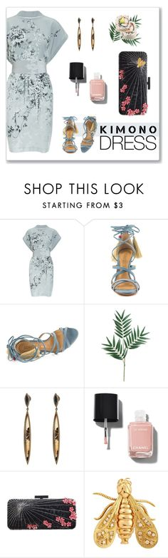 """""""Kimono Dress"""" by mk-style ❤ liked on Polyvore featuring Schutz, Monique Péan, Chanel, Forest of Chintz and Chaumet"""