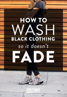 How to keep black clothes dark while you're washing them #laundrytips #laundry #fadedjeans #laundrymistakes
