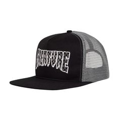 Creature Logo Check Mid Profile Mesh Trucker Hat Creature Skateboards, Black And Grey, Mesh, Creatures, Profile, Logos, Hats, Check, Fabric