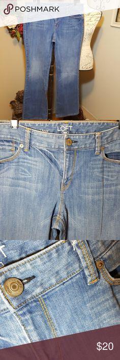 "Ann Taylor Loft Boot Cut Jeans Size 32/14 Original boot cut from Ann Taylor Loft. Excellent used condition. Measurements are approximate: 31"" inseam 10"" rise 36"" waist Please see picture w measurements for waist. Ann Taylor Loft Jeans Boot Cut"
