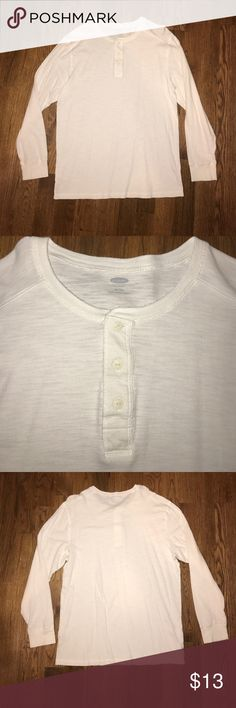 NWOT Old Navy White Long Sleeve Henley NWOT Old Navy White Long Sleeve Henley Old Navy Shirts Tees - Long Sleeve