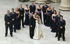 Wedding Bride Groom Groomsman Bridesmaids Party