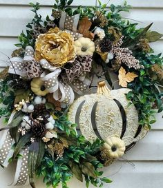 GORGEOUS FALL WREATH AUTUMN WREATH HARVEST WREATH THANKSGIVING WREATH COTTON