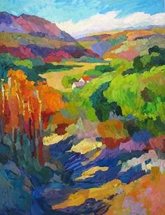 Larisa Aukon, Good To be Home by Larisa Aukon Oil ~ 48 x 36 Invest in denver-based artists!