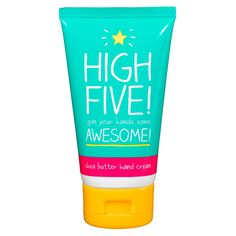 High Five Hand Cream Make your hands happy with this moisturising hand cream infused with nourishing shea butter to help replenish and revive dry skin. This shea butter hand cream is designed to be absorbed quickly Festival Essentials, Face Gems, High Five, Hand Cream, Online Gifts, Shea Butter, Shot Glass, Gifts For Her, Jackson