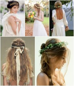 OUr favourite modern romantic, bohemian hair styles! >> Bride and Chic | Modern Wedding Ideas By Leading UK Wedding Blog