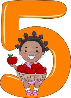 Illustration of a Kid Holding a Basket of Apples Preschool Letter Crafts, Numbers Preschool, Learning Numbers, Letter A Crafts, Teaching Aids, Teaching Math, All About Me Poster, All About Me Activities, School Clipart