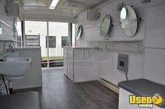 Turnkey 2000 Freightliner Mobile Hair / Nail Salon or Spa for Sale in Michigan, 2019 Build Out! Turnkey 2000 Diesel Freightliner Salon on Wheels with Unused 2019 Salon Mobile Nail Salon, Mobile Beauty Salon, Mobile Nails, Beauty Salon Decor, Nail Salon For Sale, Hair And Nail Salon, Kitchen Units For Sale, Mobile Barber, Kitchen Installation