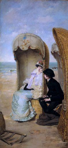 Vicente Palmaroli y González - Confession, 1883