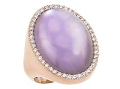 Check out this stunning Roberto Coin 18K Rose Gold Satin Ring with Diamonds, Amethyst and Mother of Pearl from the Cocktail Collection!!