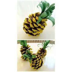 Pine Cones to Pine Apple.  #diy #pineapple #partydecor #party #homedecor #pinecone #diycrafts #diyart #doityourself #summer #spring #affordable #lifehacksanddiysgiveaway #lifehacks #beautifulhomes #teens #ModernInteriorDesign #interiordesign #DecorInspiration #decorinspo #awesomeness #contemporary #chic #cutestuff #frugal #frugalliving #walldecor #easydiy #supercute #DecorNation