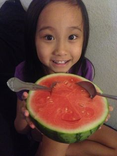 This is how we like to eat our watermelons