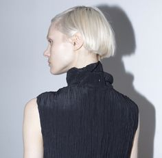 crushed pleat dress by Kahle Studio at Assembly New York