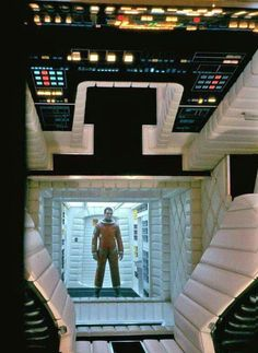 A Space Odyssey - control room Fiction Movies, Science Fiction Art, Sci Fi Movies, Stanley Kubrick, Tv Movie, Spaceship Interior, 2001 A Space Odyssey, Full Metal Jacket, Sci Fi Environment