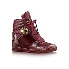 LOUIS VUITTON Postmark Sneaker Boot ❤ liked on Polyvore featuring shoes, wedges shoes, louis vuitton shoes, blossom shoes, wedge heel shoes and blossom footwear