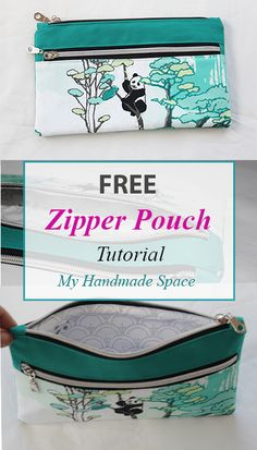This post may contain affiliate links. This double zipper pouch tutorial is for a lined pouch that you can use as a pencil case, cosmetics bag, or as a clutch. The finished measurements are approximately wide x 5 … Read Sewing Projects For Beginners, Sewing Tutorials, Sewing Tips, Sewing Hacks, Tutorial Sewing, Bag Tutorials, Free Sewing, Sewing Ideas, Pochette Diy