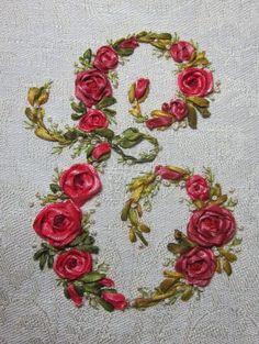 Elisabetta ricami a mano: Silk (!?!) ribbon embroidery