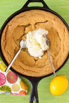 Giant Skillet Lemon Sugar Cookie