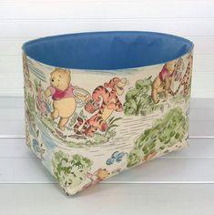 Winnie the Pooh Nursery Decor Storage Basket Fabric Storage | Etsy Winnie The Pooh Decor, Winnie The Pooh Nursery, Pooh Winnie, Fabric Storage Baskets, Toy Storage, Basket Storage, Storage Room, Diaper Storage, Nursery Storage