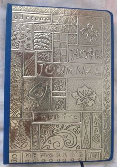 Abstract journal hand crafted by Caroline @ Pewter Concepts