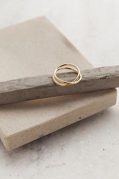 Don't Cross Me Gold Ring | ShopDressUp.com
