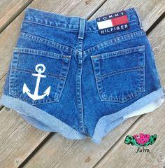 DIY High Waist Anchor Shorts pocket- etsy.com