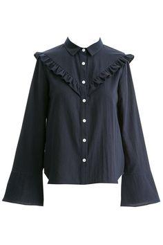 Bell Sleeve Ruffle Shirt