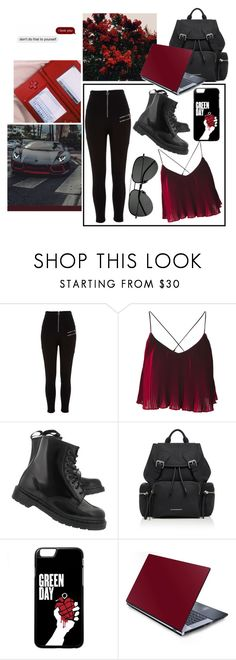 """21 g༙u༙n༙s༙"" by demon-next-door ❤ liked on Polyvore featuring River Island, Dr. Martens, Burberry and Yves Saint Laurent"