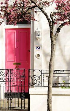 Pink front door!