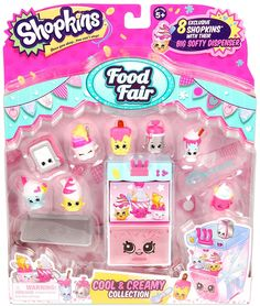 Moose Toys Shopkins Season 3 Food Fair Themed Packs Cool And Creamy Collection Shopkins Small Mart, Shopkins Food Fair, Shopkins Store, Free Shopkins, Shopkins Bday, My Mini Mixieqs, Shopkins Season 3, Accessoires Barbie, Cupcake Collection