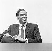 Jim Clark, British Formula One racing driver from Scotland, pictured at news press conference, 9th September 1963. - Stock Photo