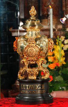 El corazón de Ludwig II de Bavaria.