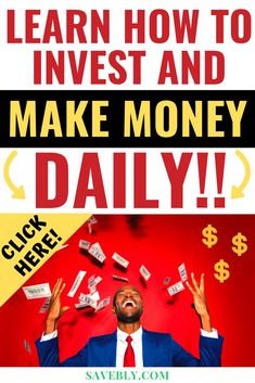 AWESOME post on how to invest and make money daily! Invest for beginners and invest in your invest money and invest stock market and dividend invest. Learn how to start invest with these invest ideas to invest for wealth. These are the best Invest ap Investing Apps, Investing For Retirement, Dividend Investing, Investing In Stocks, Early Retirement, Learn Stock Market, Stock Market For Beginners, Stock Market Investing, Make Money Fast